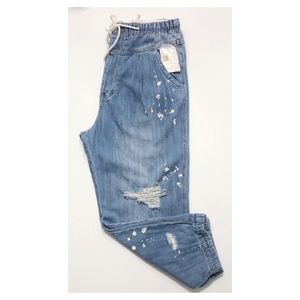 NWT Free People Pacific Blue Utility Jeans Small
